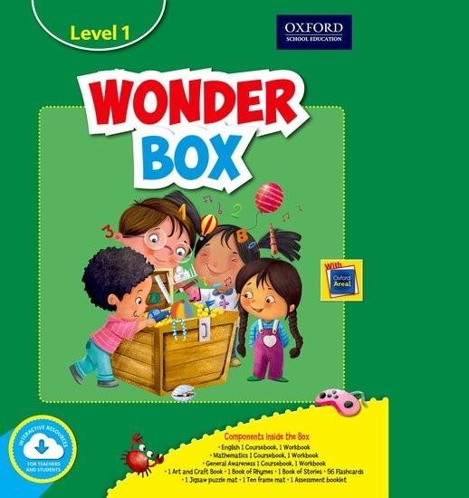 1 Oxford Wonder Box Level -1 Pre-School Books Set For LKG Class