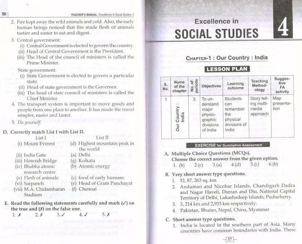 Prachi Excellence In Social Studies Classes 3 to 5 solutions