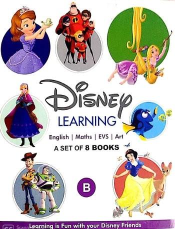 1 Disney Learning Books Set For LKG Class - B (8 Books Set)