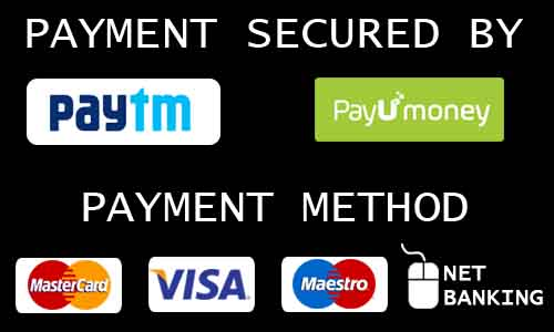 pay through paytm, payumoney, net banking, credit card, debit card